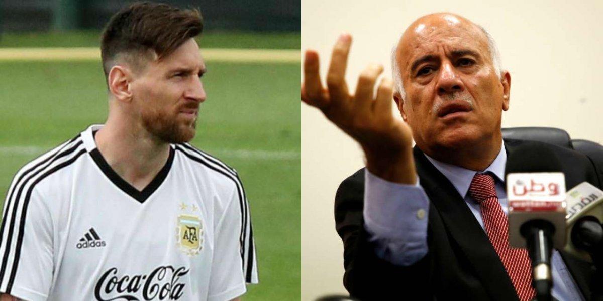 Suspenden a presidente de la federación de Palestina por arremeter en contra de Messi