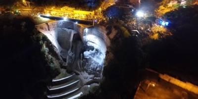 Inauguración del Puente San Marino en Mixco