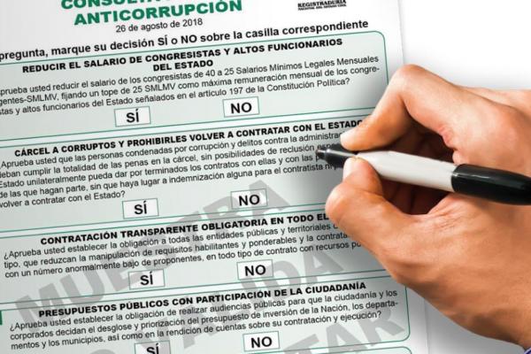 Tarjetón Consulta anticorrupción