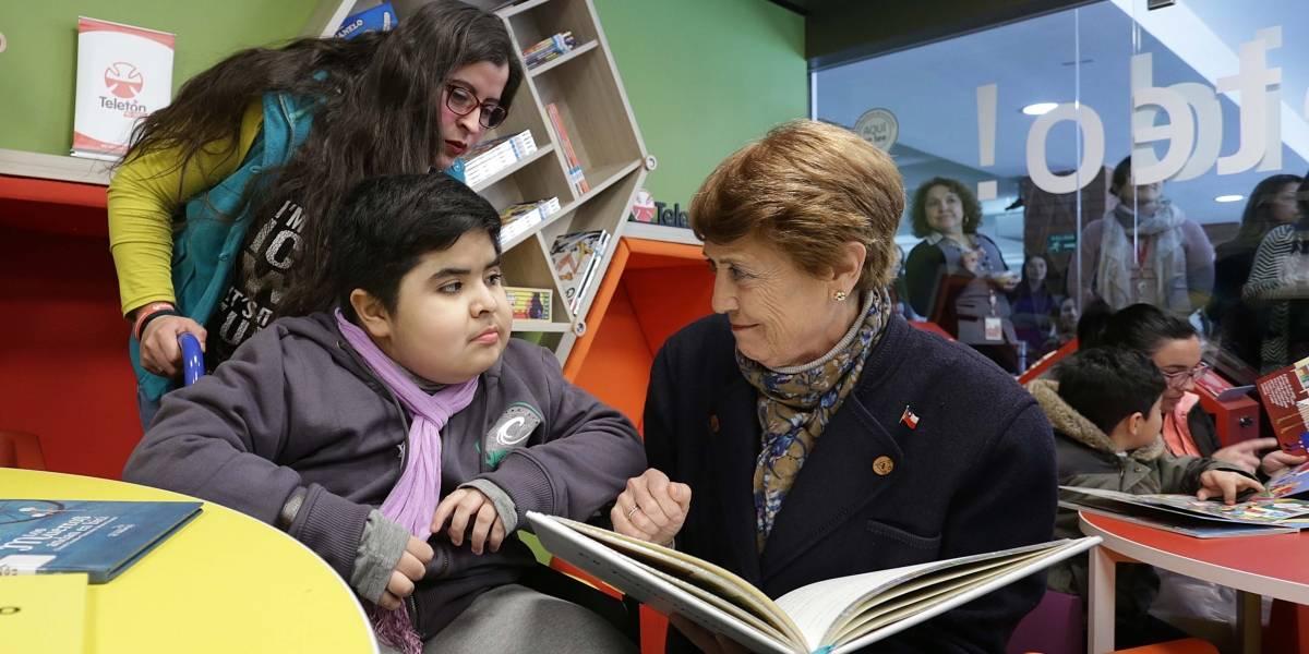 Biblioteca inclusiva del Instituto Teletón fue inaugurada por la Ministra de Cultura