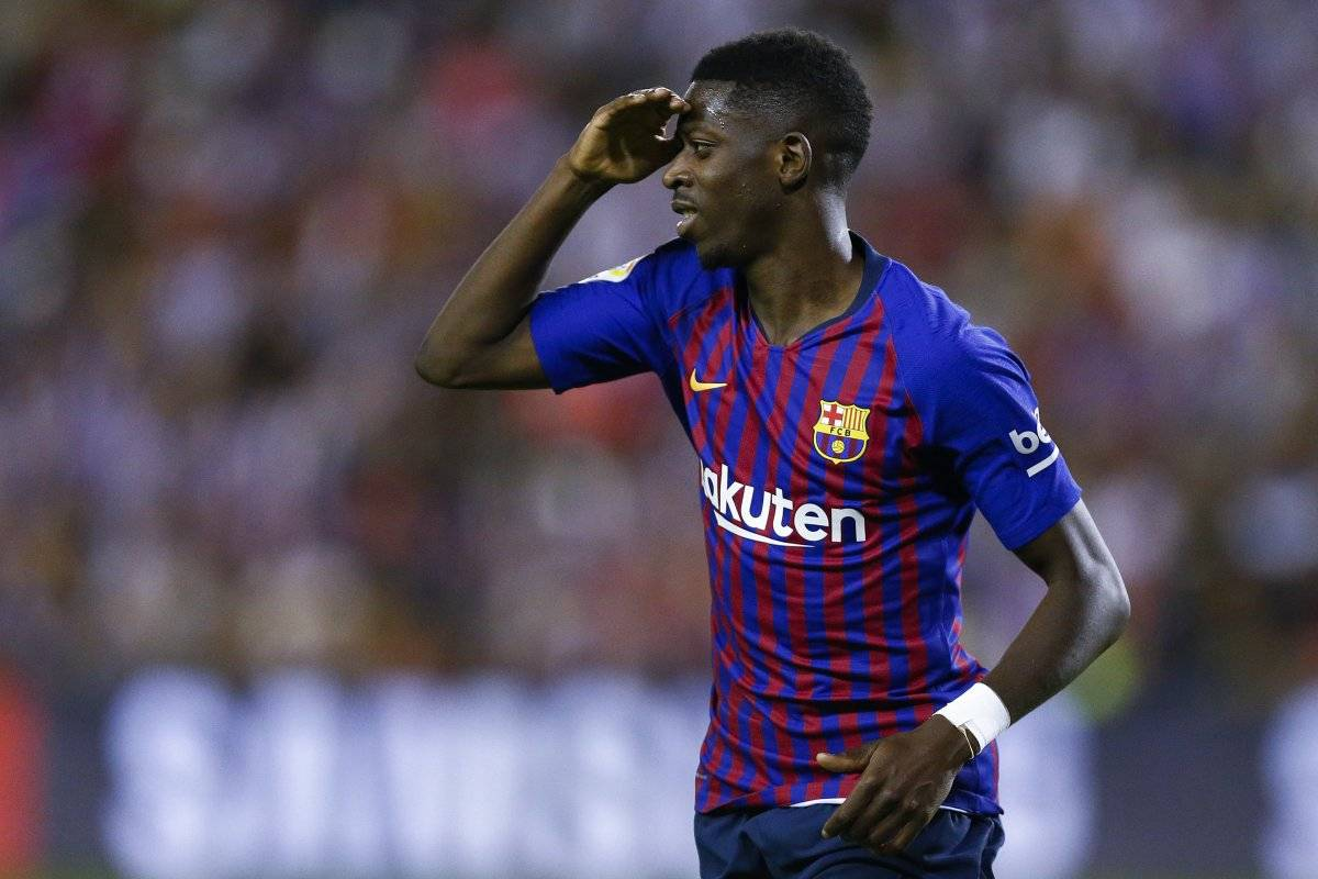 Dembélé fue el héroe del Barcelona