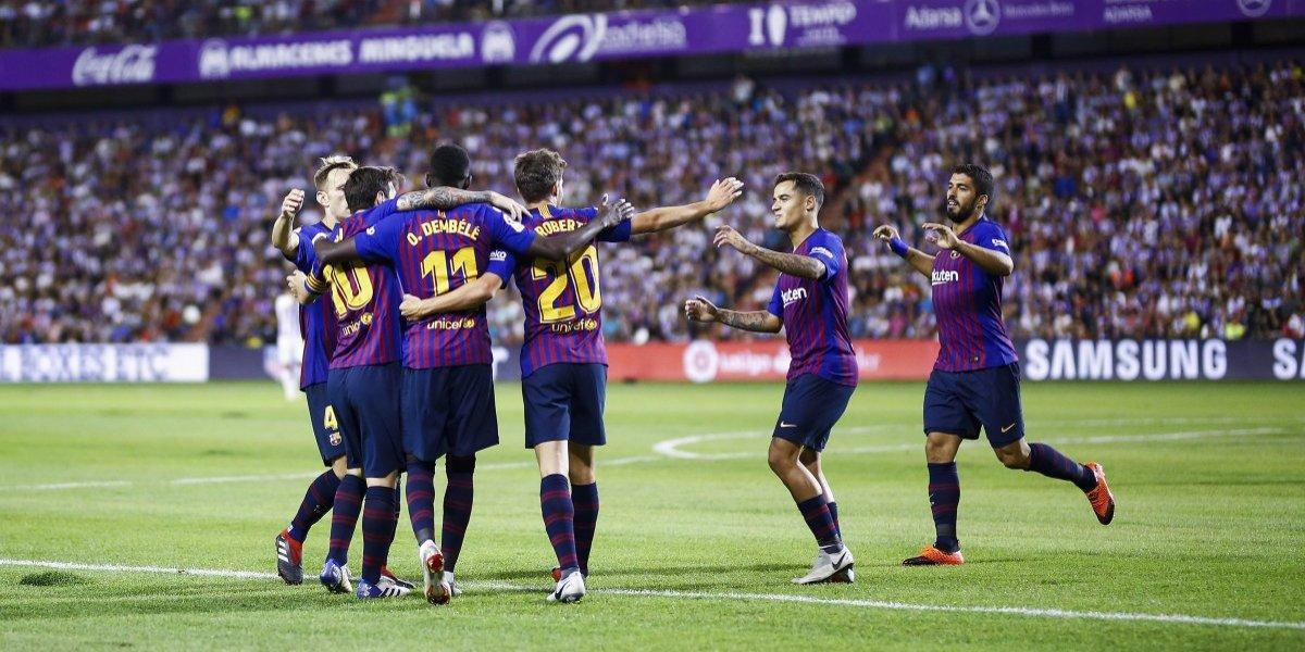 El VAR le da una mano al Barcelona para no tropezar ante el Valladolid