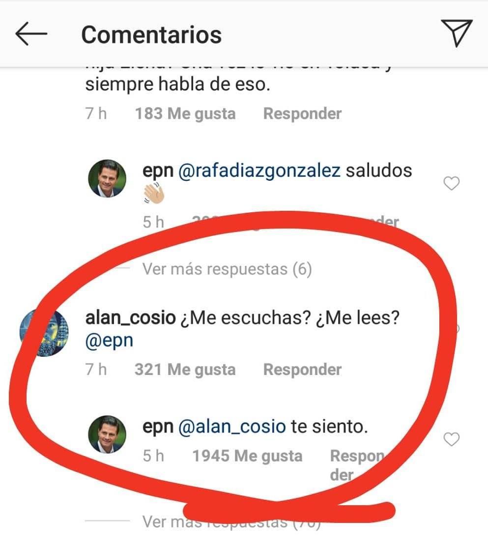 Peña Nieto responde en Instagram