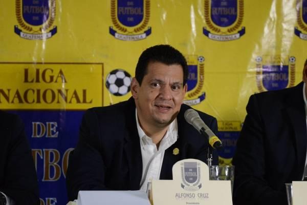 Alfonso Cruz Berganza presidente de la Liga Nacional de Futbol