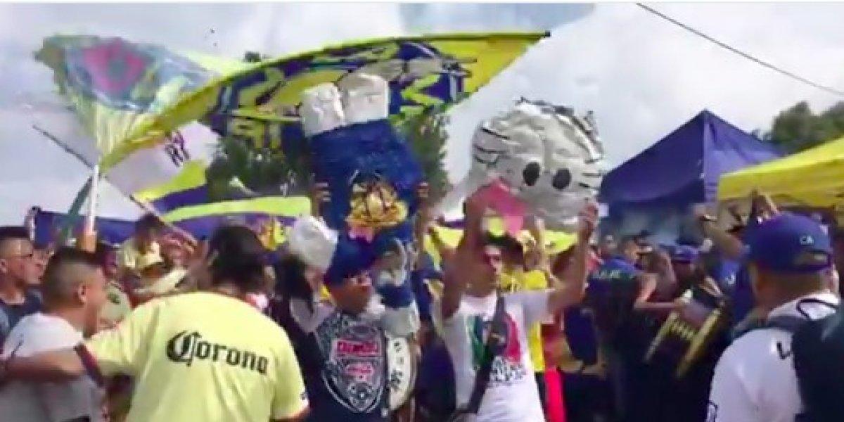 VIDEO: Aficionados del América encienden el clásico capitalino