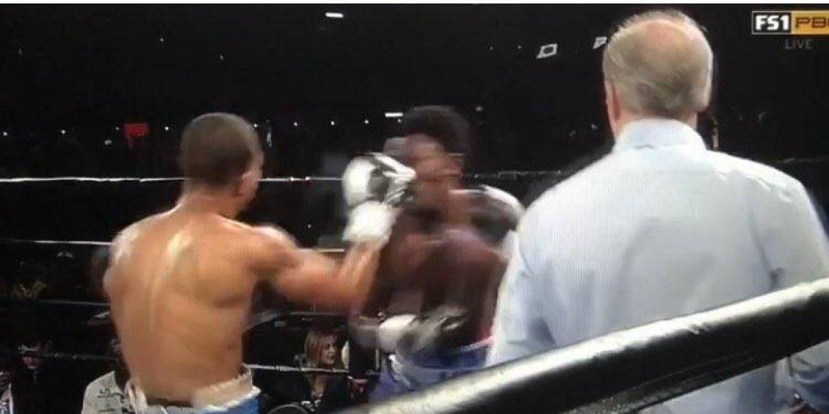 VIDEO: Boxeador cae del cuadrilátero tras potente golpe