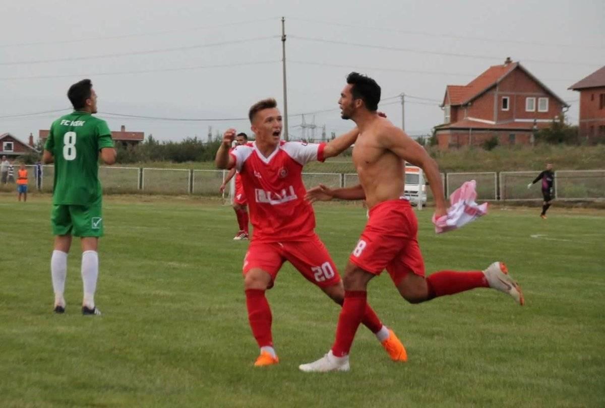Pérez festejó su primer gol en Kosovo