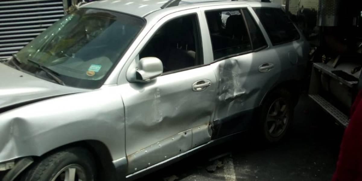 Accidente en la cuesta de Villa Lobos deja 8 heridos
