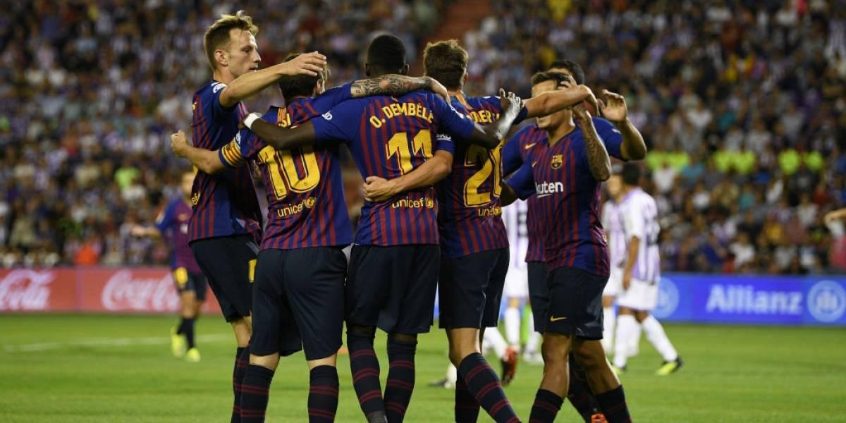 Con Vidal sobre el final, un opaco Barcelona derrotó al Valladolid como visita