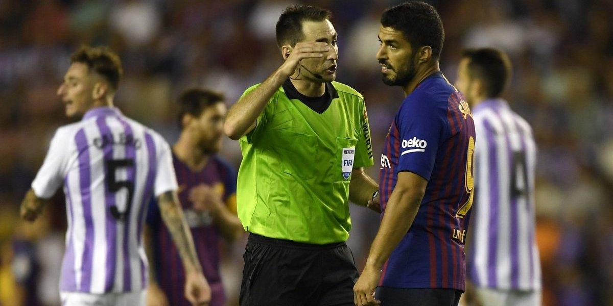 Con polémico final, el Barça se impone ante el Valladolid
