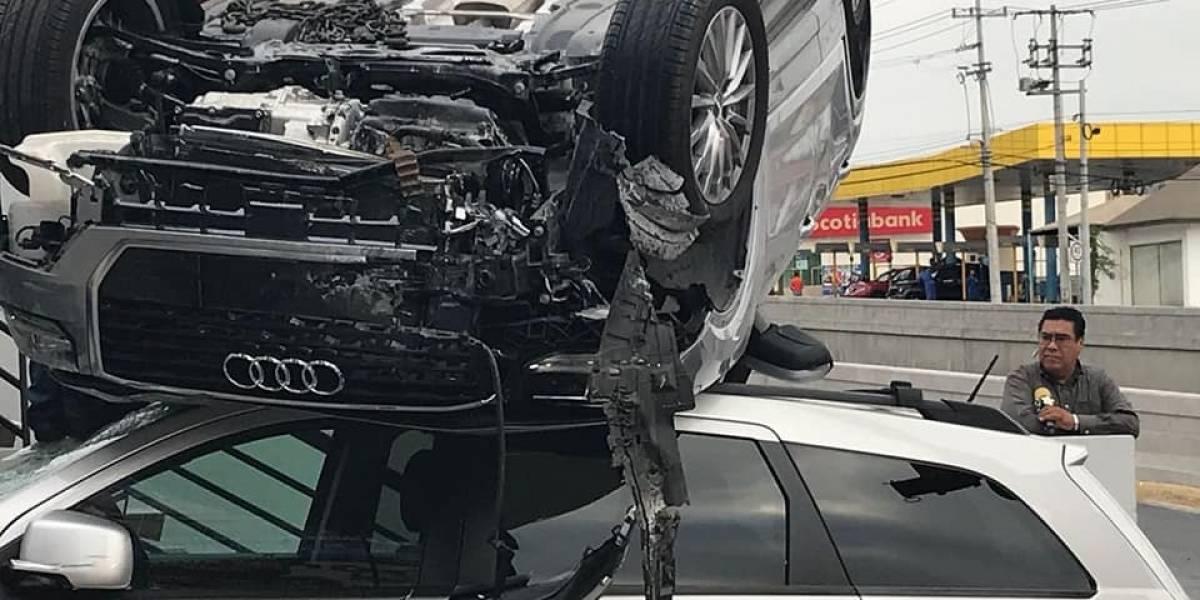 ¿Milagro? Impresionante accidente vial en Monterrey resulta sin víctimas