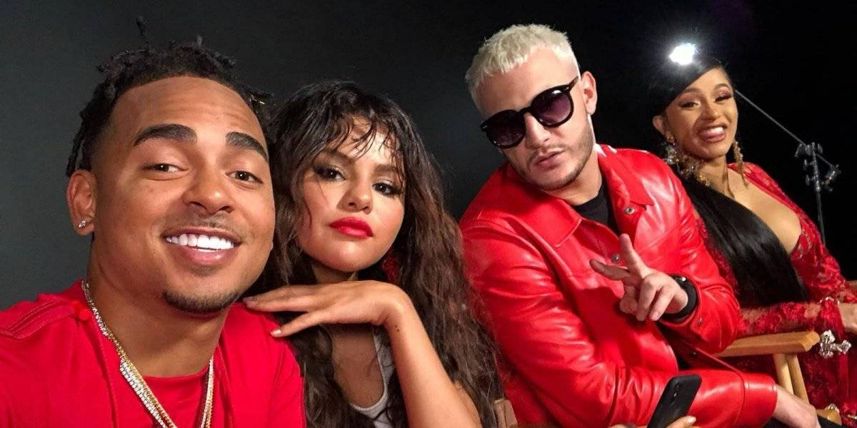 Ozuna graba vídeo con Cardi B y Selena Gómez