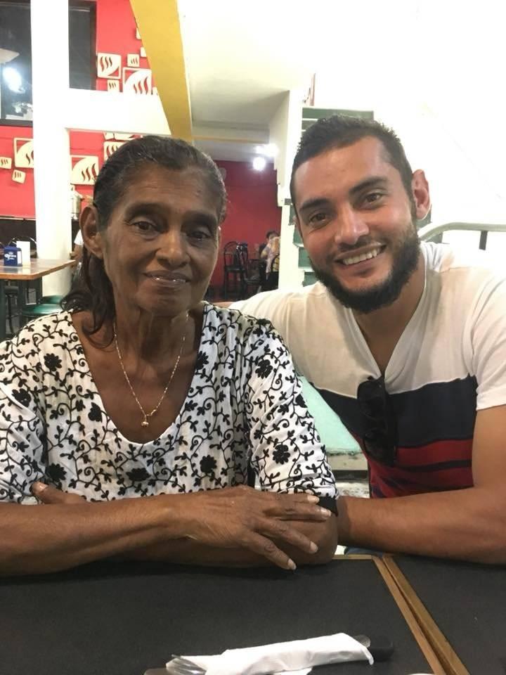 Danilo Guerra y su mamá Betty