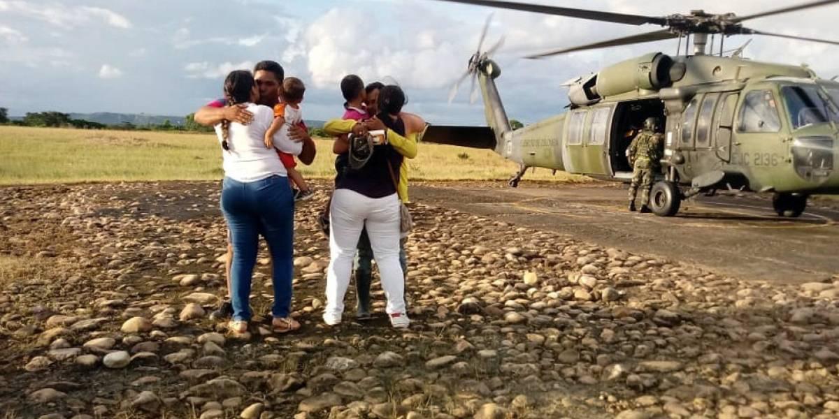 Ejército libera a dos personas que estaban secuestradas por el ELN