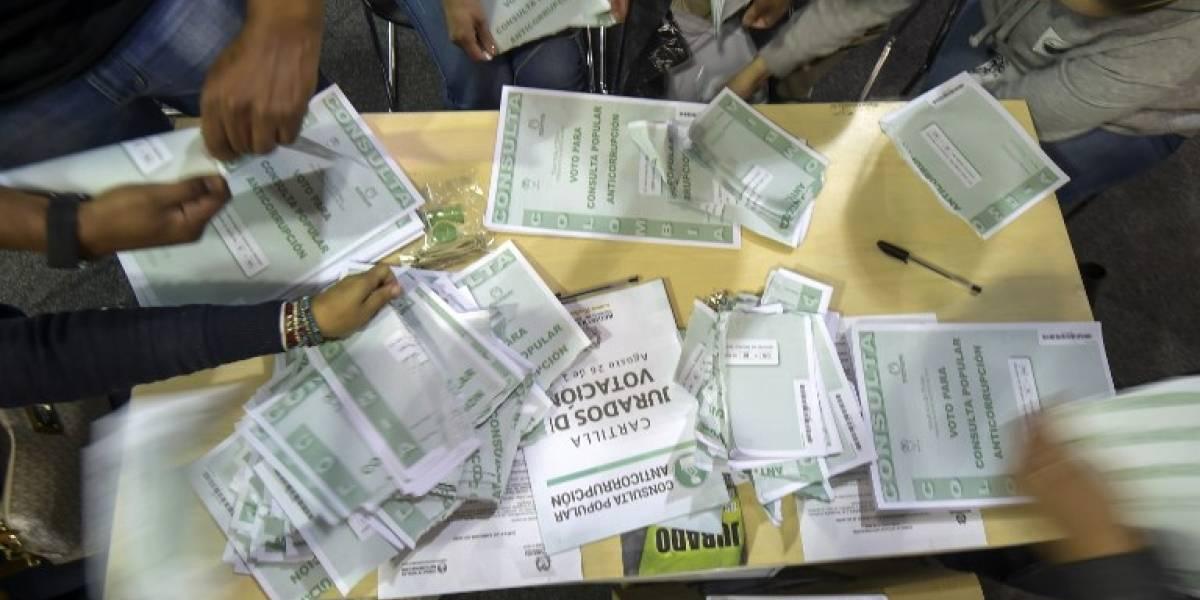 Naufraga en las urnas consulta anticorrupción en Colombia