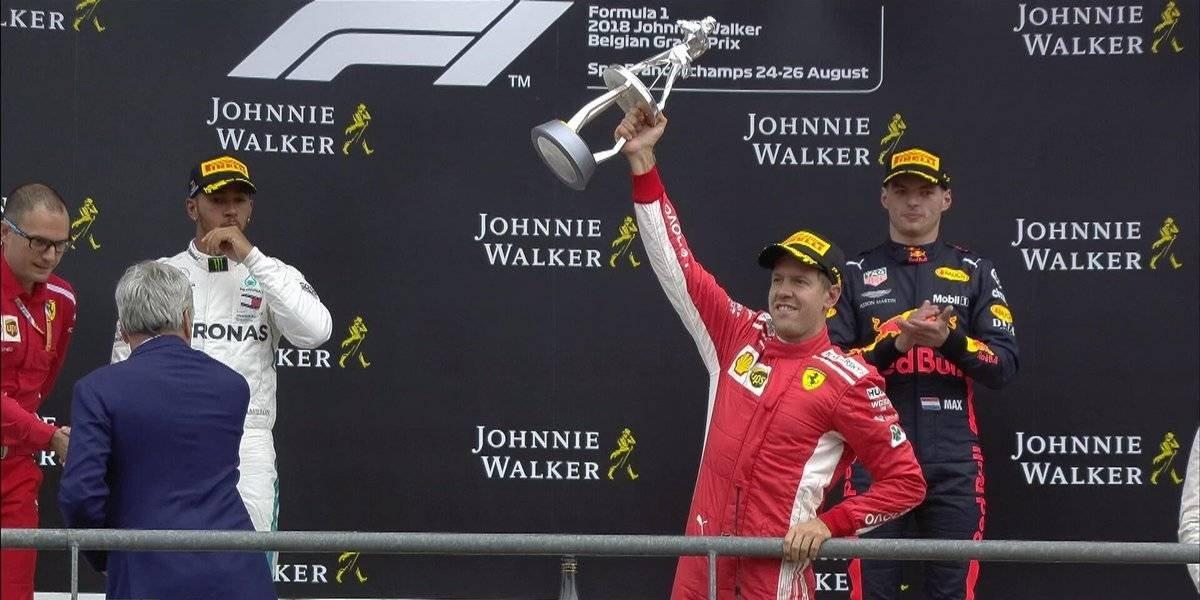 Vettel se impone en el GP de Bélgica