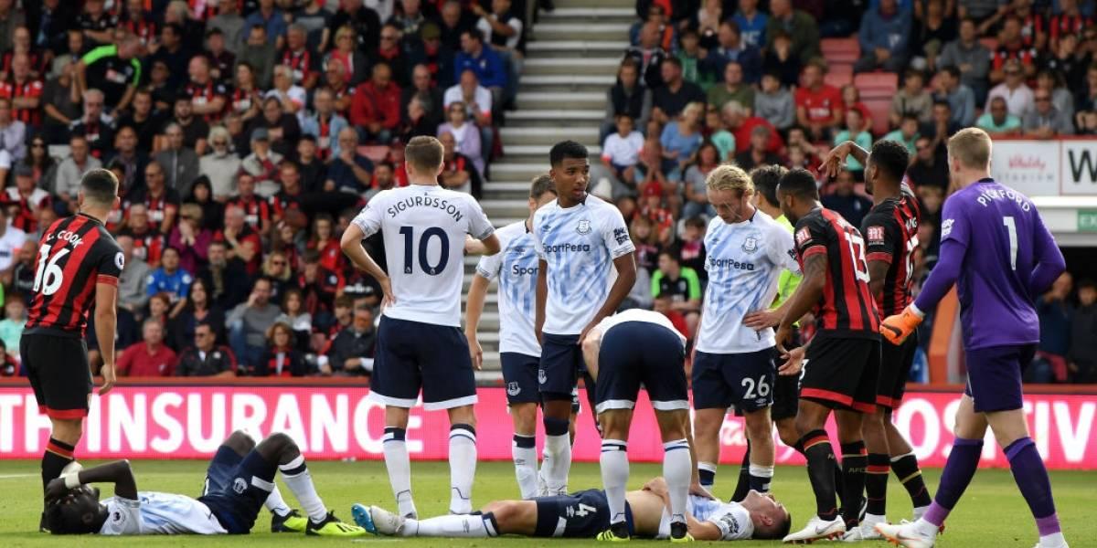 Dramático: jugador del Everton inglés terminó con fractura de cráneo