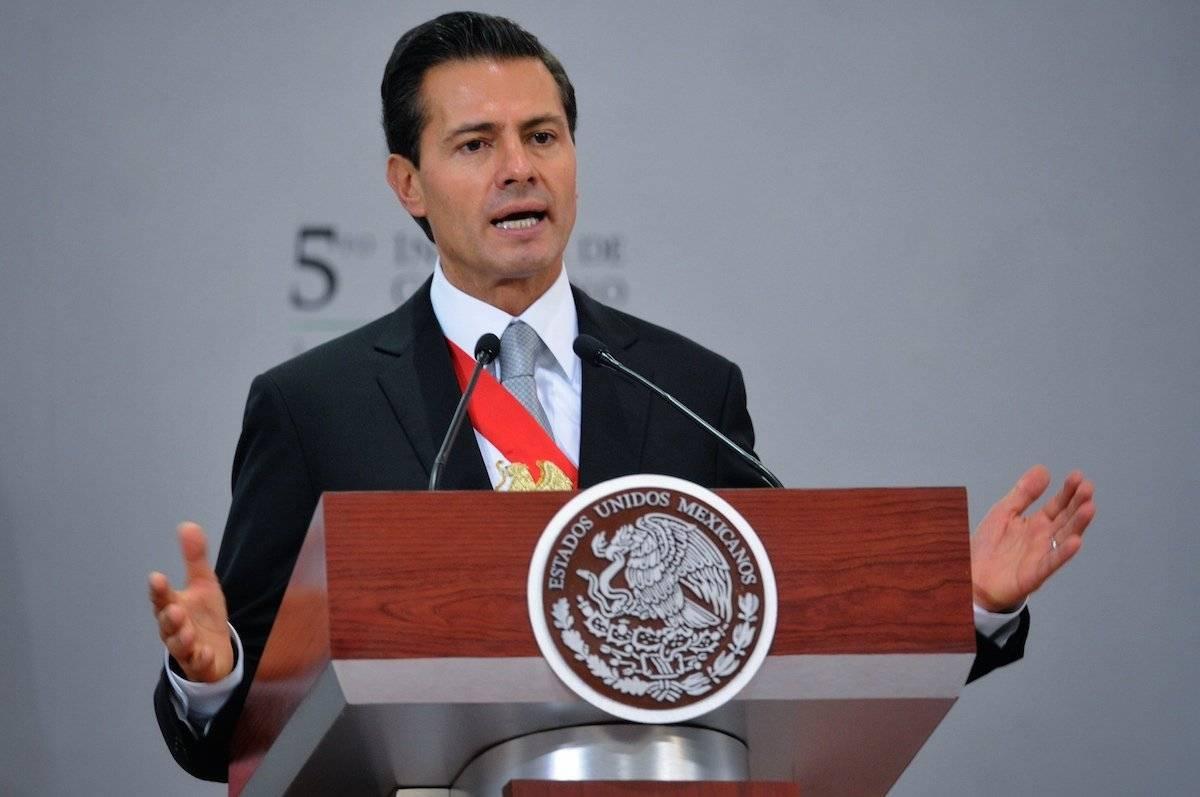 Peña Nieto durante el V Informe de Gobierno / Ilustrativa Foto: Cuartoscuro