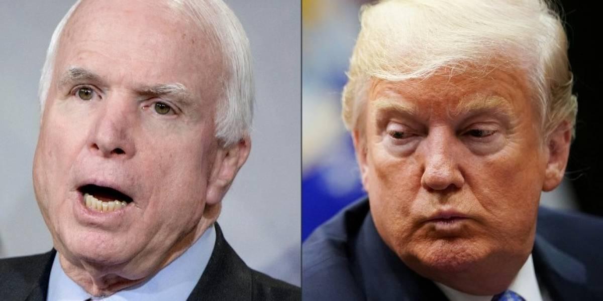 McCain pidió que Trump no fuera invitado a su funeral