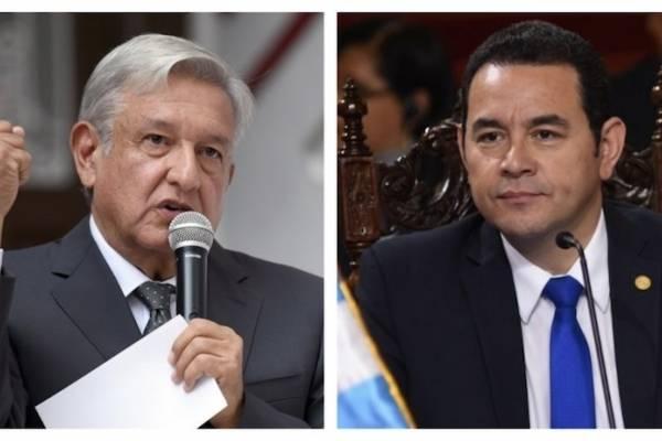 Andrés Manuel López Obrador y Jimmy Morales
