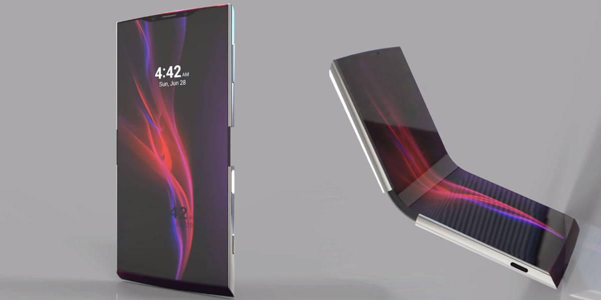 Así luciría un Xperia con pantalla plegable, si Sony lo hiciera