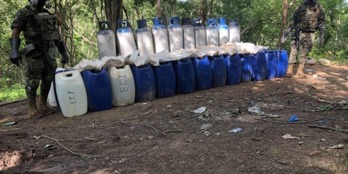 Marina asegura 4 narcolaboratorios en Culiacán, Sinaloa