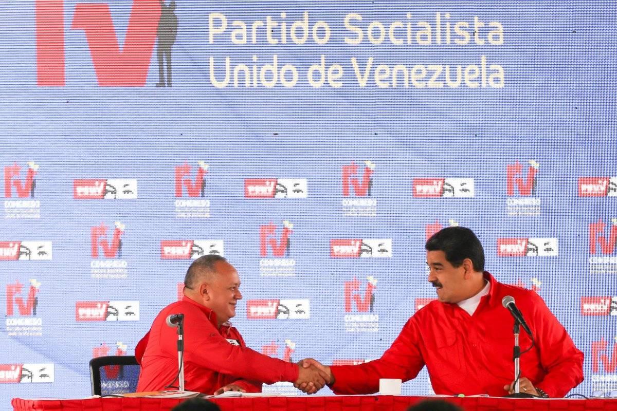 El Presidente de Venezuela, Nicolás Maduro y el presidente de la Asamblea Nacional Constituyente de Venezuela, Diosdado Cabello,