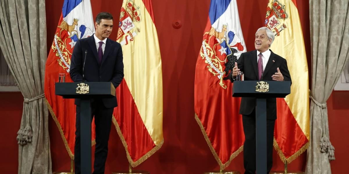 Gira latinoamericana de Pedro Sánchez comenzó en La Moneda: Chile y España suscriben acuerdos en ciberseguridad