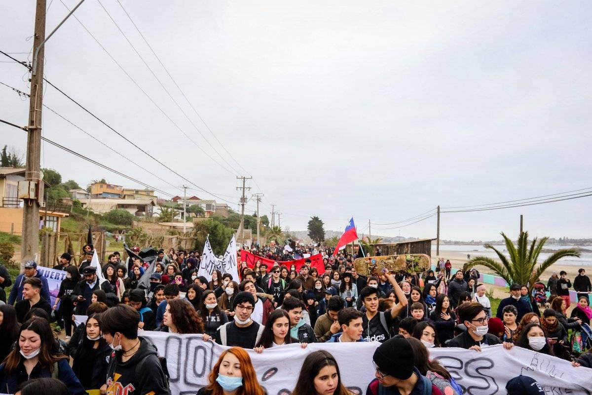 Protesta en Quintero y Puchuncaví