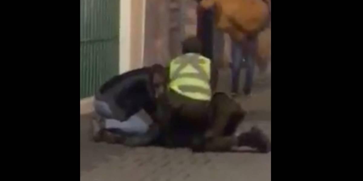 """Cosas que pasan en Rancagua: el arriesgado """"salto ninja"""" sobre carabineros que se transformó en viral"""