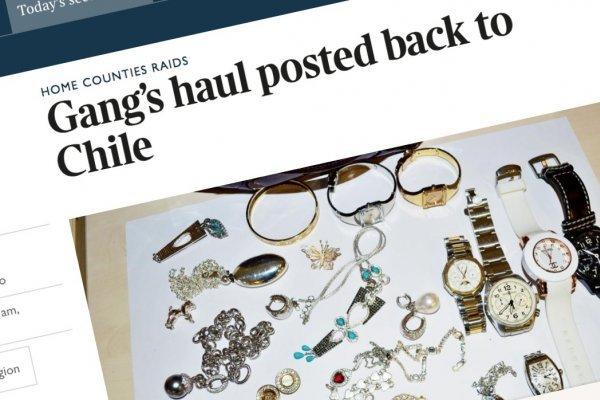 Ladrones chilenos aparecen en la prensa inglesa