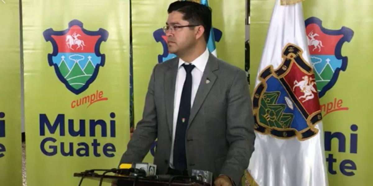 Municipalidad de Guatemala acciona contra taxistas que manifestaron hoy