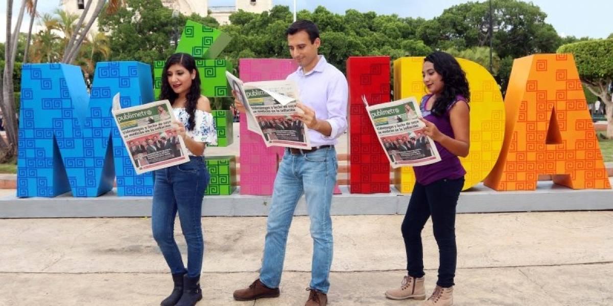 Circula en Mérida la primera entrega gratuita de Publimetro Yucatán