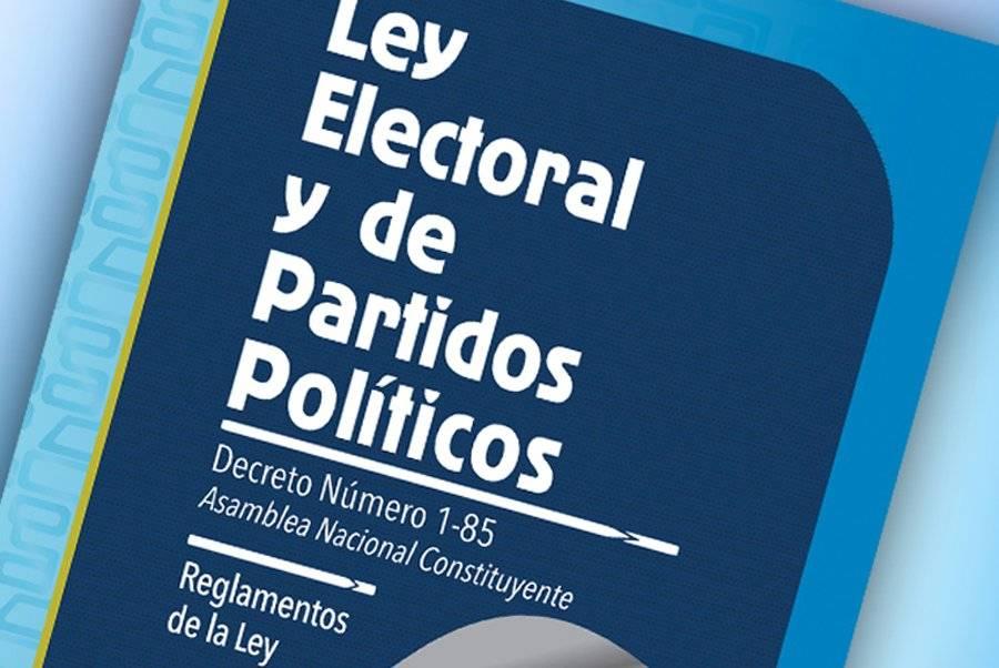 Ley Electoral y de Partidos Políticos TSE
