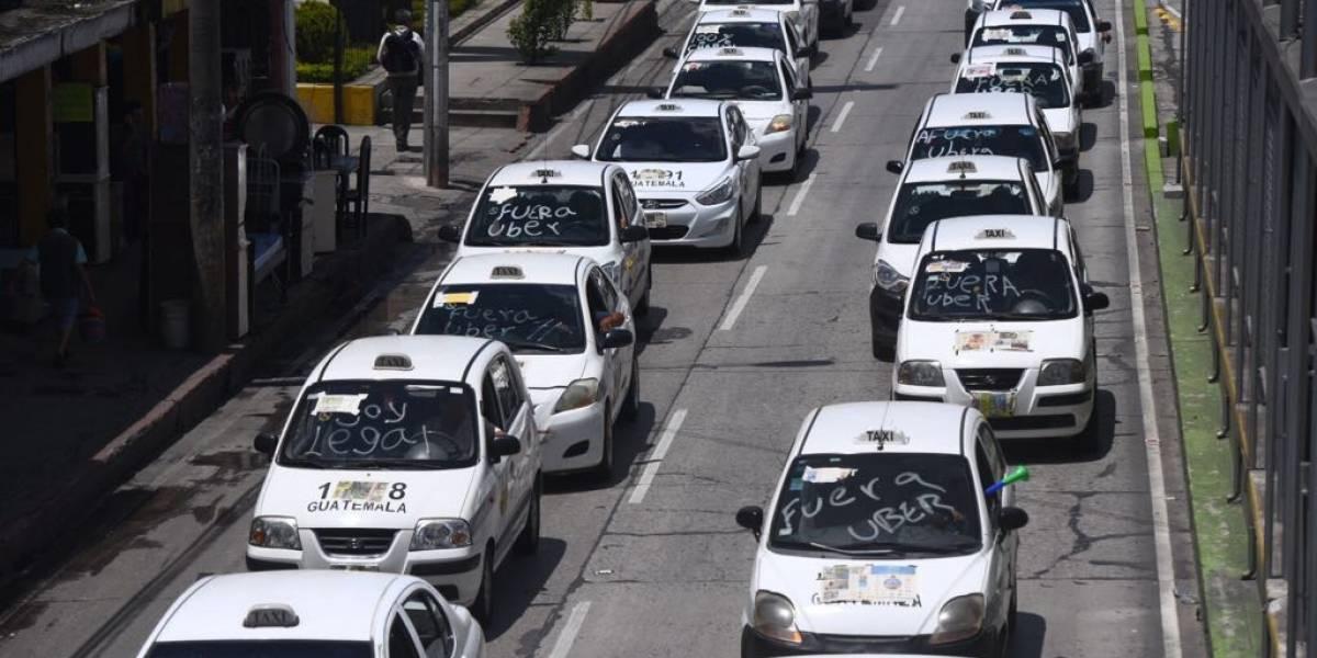 Taxistas pedirán a Giammattei regularizar servicio en el área metropolitana