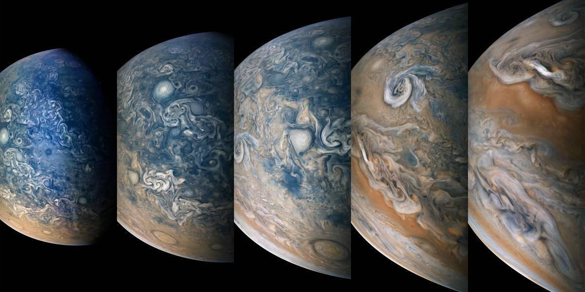 Las extrañas imágenes de las nubes de Júpiter que reveló la NASA que sorprenden a la comunidad científica