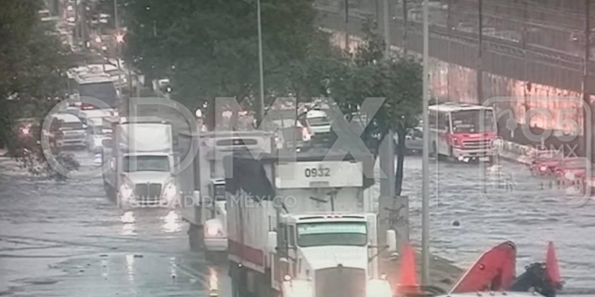 Lluvia desquicia al oriente de la CDMX; se inunda Ignacio Zaragoza