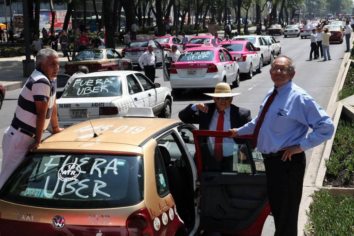 taxistas contra Uber