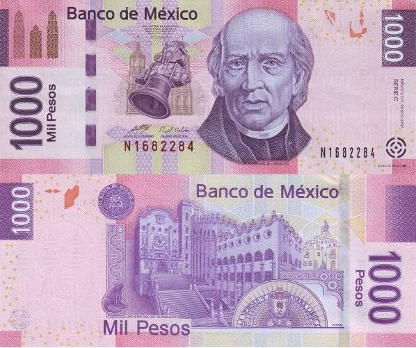 Billete actual de mil pesos. Foto: Banxico
