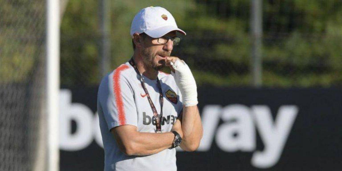 VIDEO: Eusebio Di Francesco se rompe la mano tras festejo