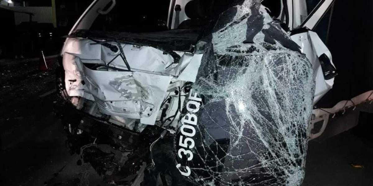 Accidente en ruta Interamericana deja a una bebé fallecida y 12 personas heridas