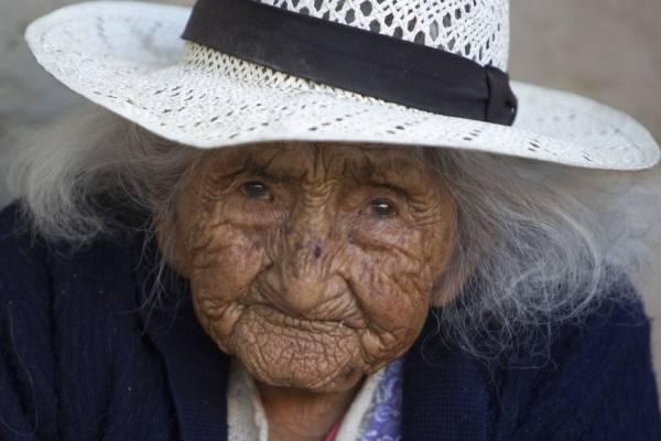 Anciana de 118 años en Bolivia