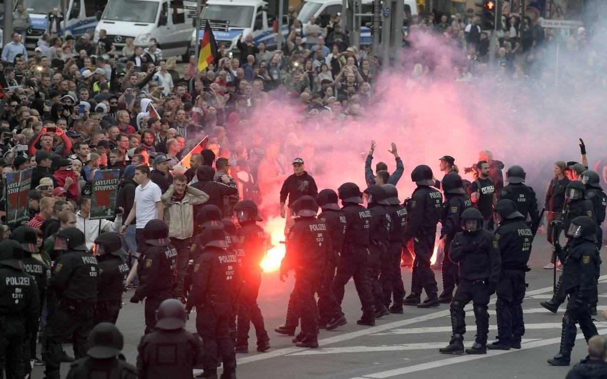 Los recientes episodios de violencia callejera de la extrema derecha generaron una gran inquietud en la opinión pública alemana.