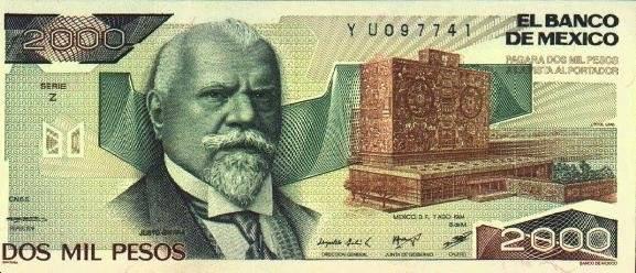 Justo Sierra y la UNAM decoraban esta denominación. Foto: Banxico
