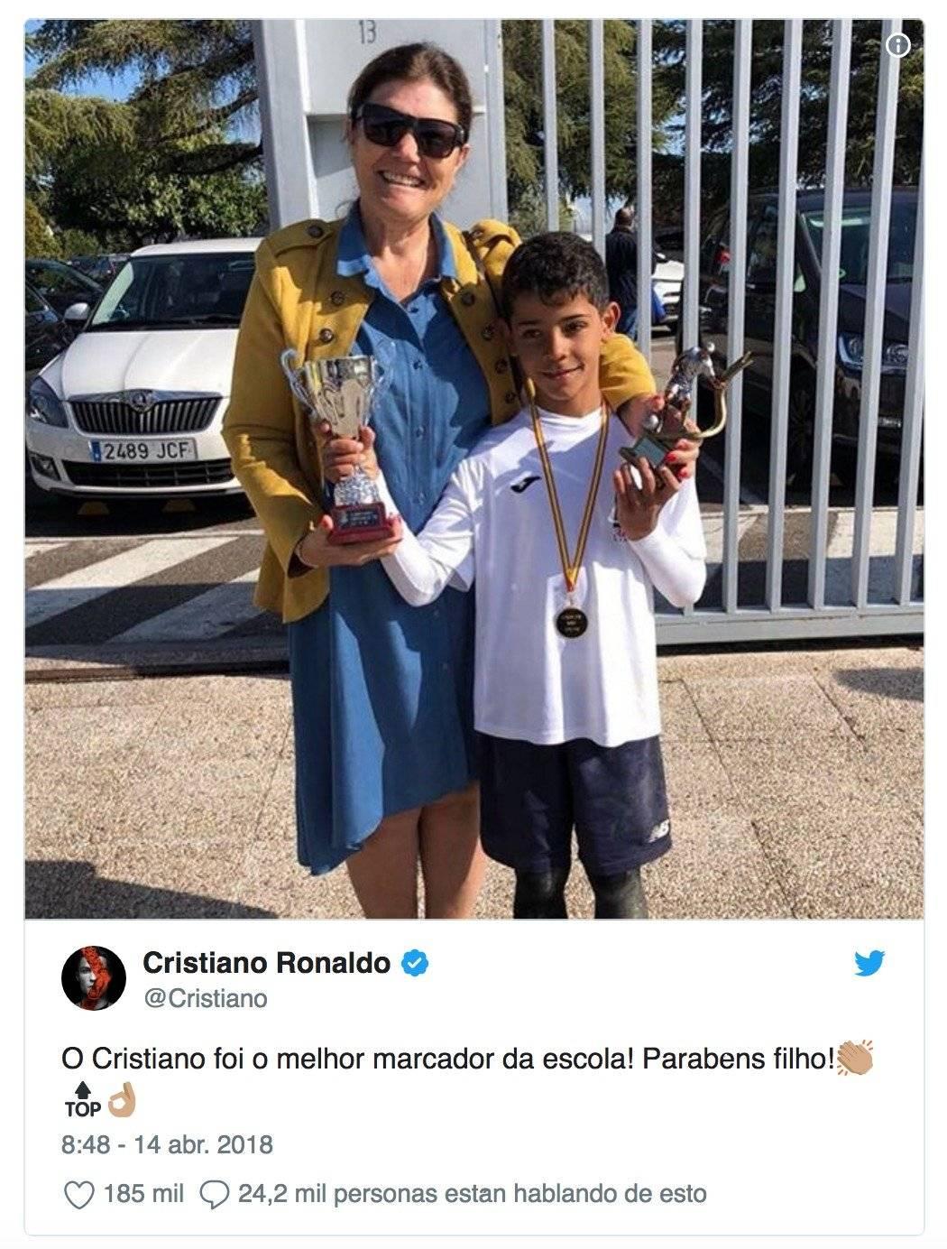 Cristiano Jr. ya ganó un título como goleador
