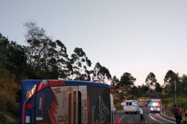 Accidente de tránsito en la vía Guayaquil-Cariamanga