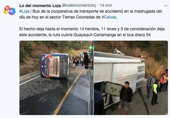 Accidente de tránsito en Loja