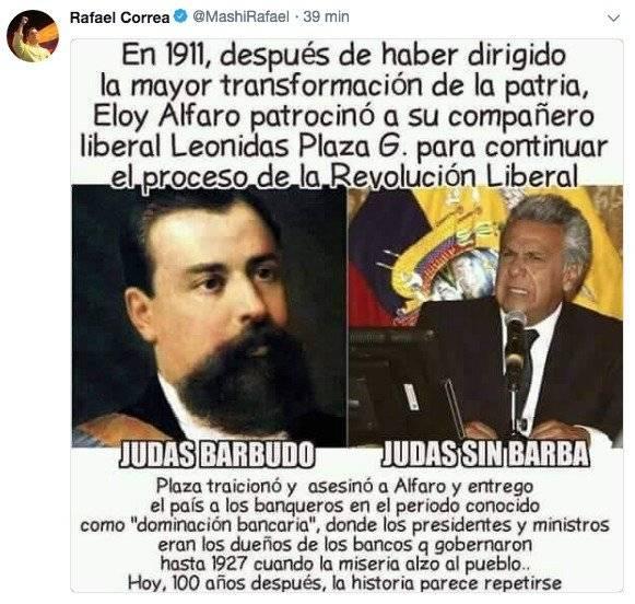 Tuit de Rafael Correa