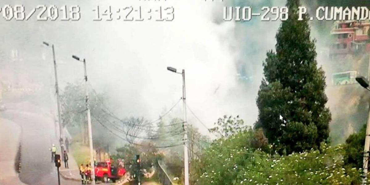 Quito: Cuatro conatos de incendios forestales se registraron este 28 de agosto