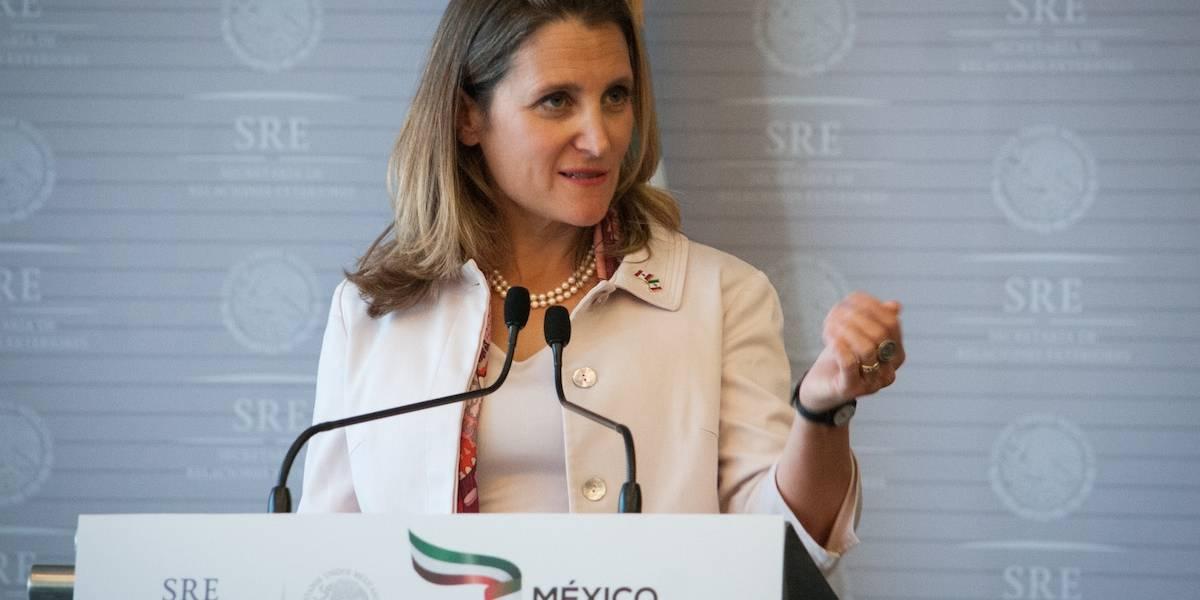 México hizo concesiones en acuerdo comecial con EU: Freeland